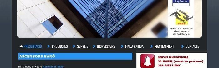 Disseny web d'Ascensors Baró