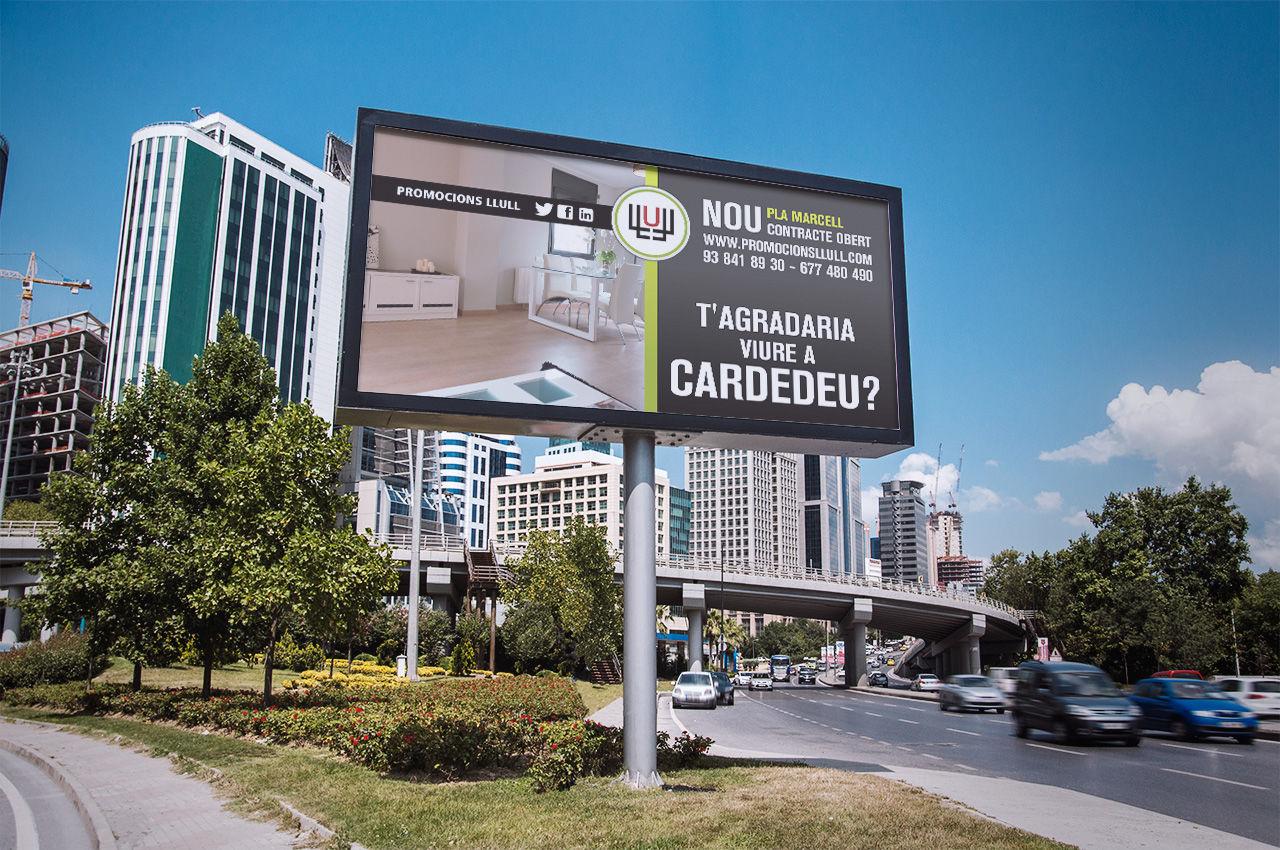 Disseny cartell publicitari per Promotora Immobiliària