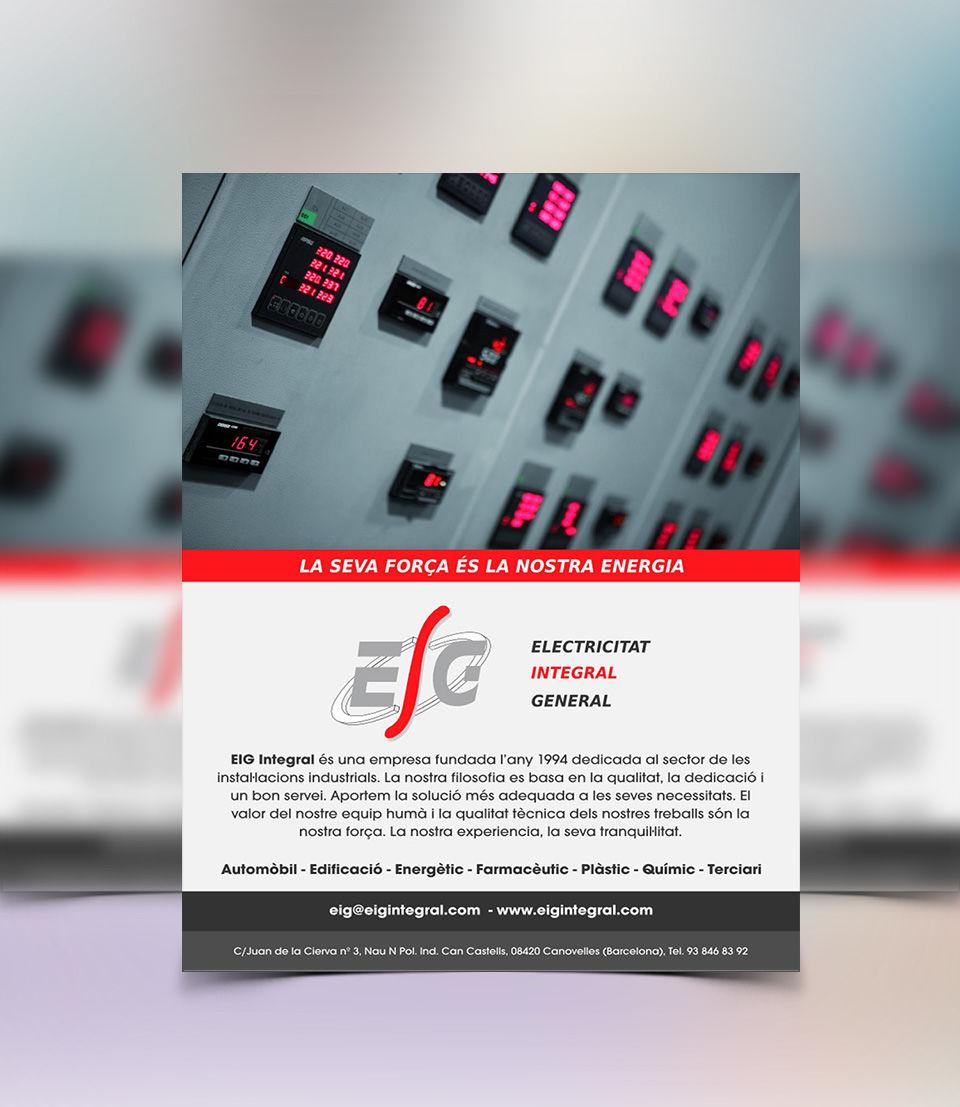 Disseny fulletó per Enginyeria Elèctrica