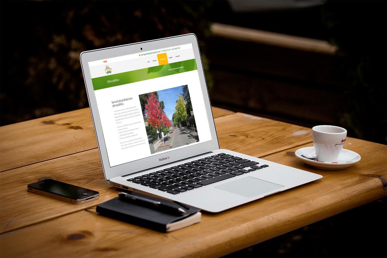 disseny web empresa jardineria