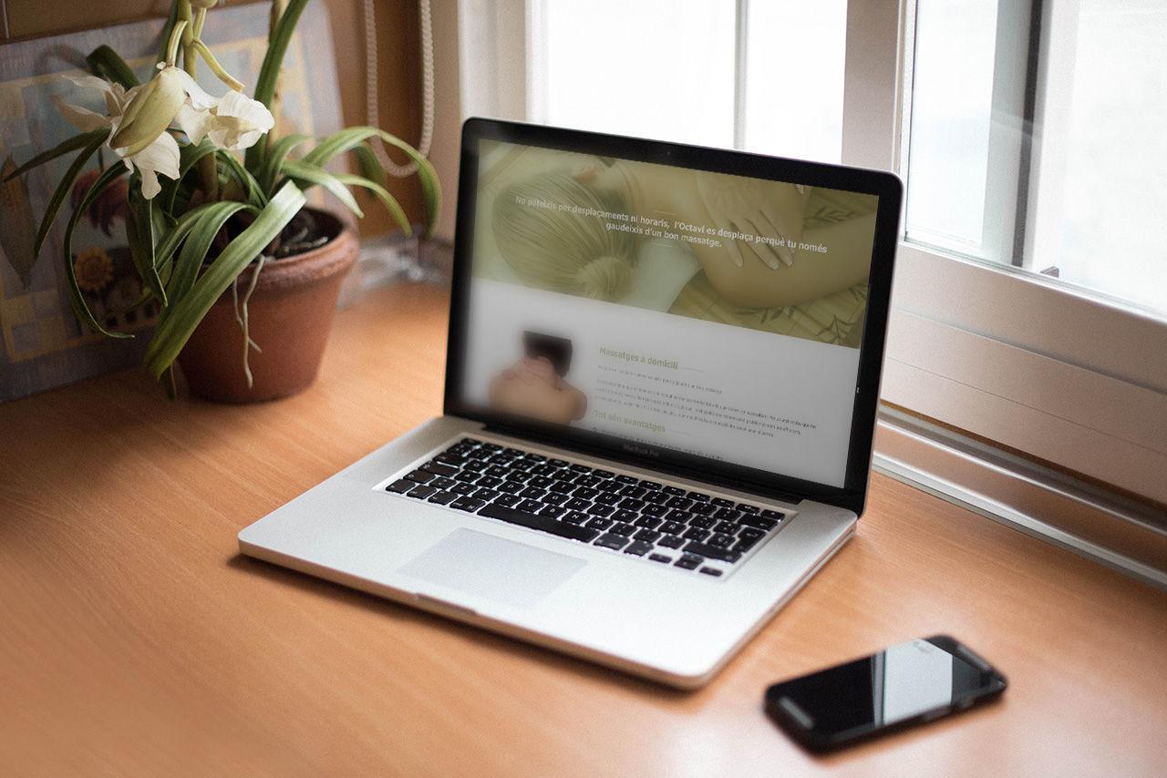 disseny web massatgista