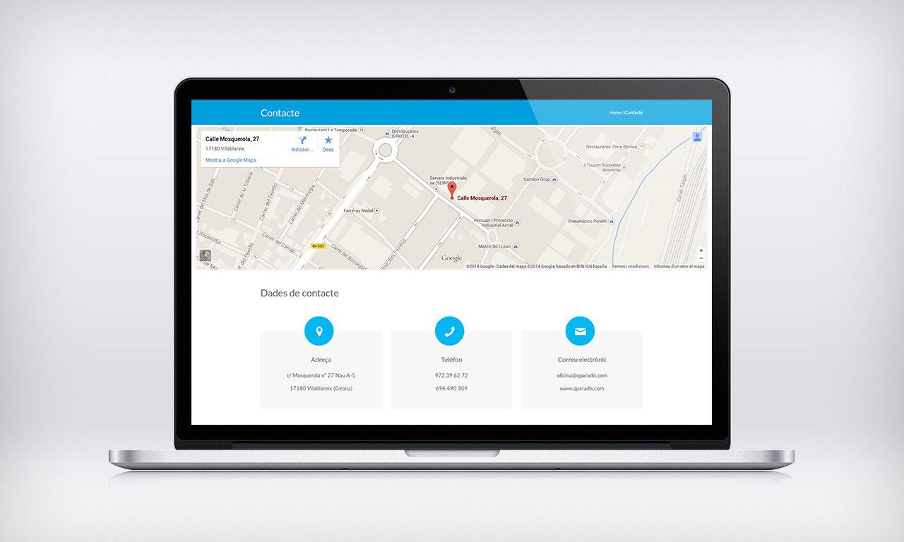 disseny web empresa de reparació de goteres