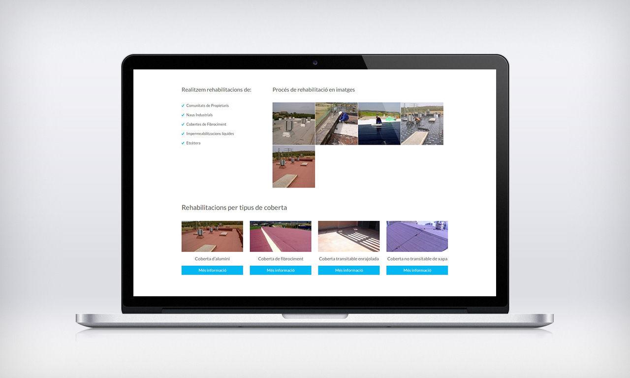 disseny web empresa d'impermeabilitzacions