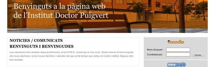 Programació web de l'Institut Doctor Puigvert
