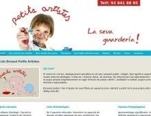 Disseny web Guarderia Petits Artistes