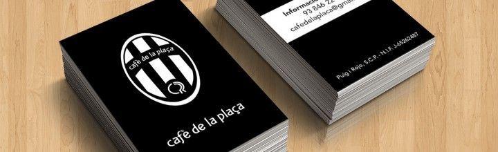 Disseny de targetes Cafè de la Plaça